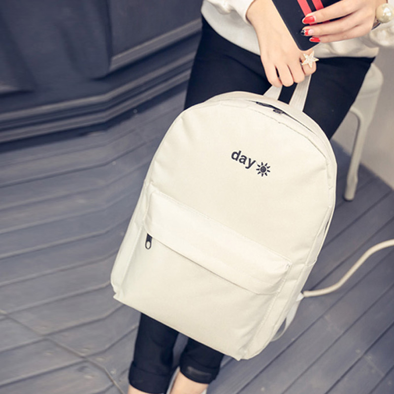 Women Lady Men Backpack School Bag Waterproof Canvas Zipper Fashion For Travel Best Sale-WT