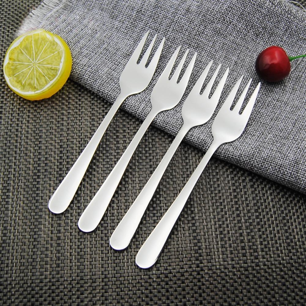 4 шт., вилки для коктейлей и десертов из нержавеющей стали