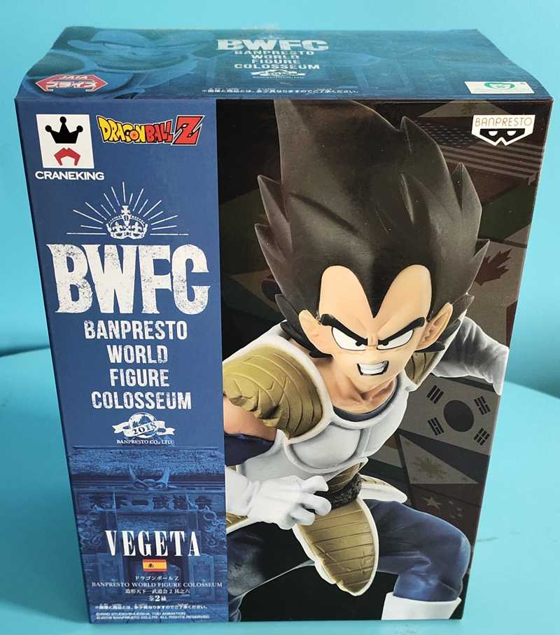 Local Original Banpresto Dragon ball Z DBZ Figura Mundial Coliseu SC9 BWFC2 Figurals Vegeta Modelo Brinquedos