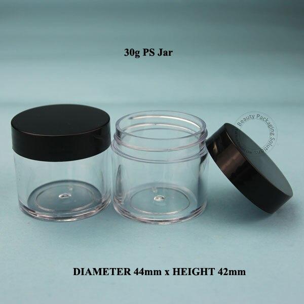 50pcs Lot Promotion 30g Plastic Cream Jar Facial Cream Bottle Women Cosmetic 1 3 OZ Container