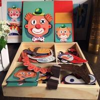 Hot sale Diversification Cartoon Wooden 3D Puzzle Toys for Children Educational Characters/Transportation/Circu/BuildingToy Gift