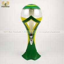 Green 3 Liters Brazil Football National Team LED Beer Tower Dispenser BT30