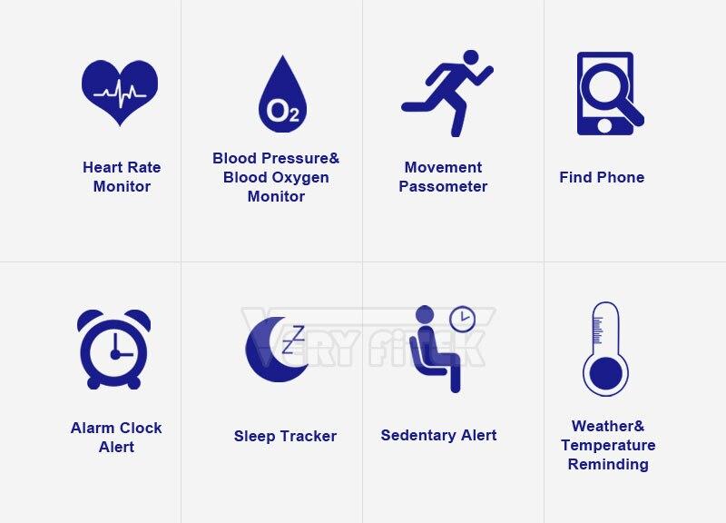 VERYFiTEK CK11S Fitness Bracelet Blood Pressure Smart Wristband heart rate monitor pulsometer Bracelets for xiomi pk fit bit-01 (5)