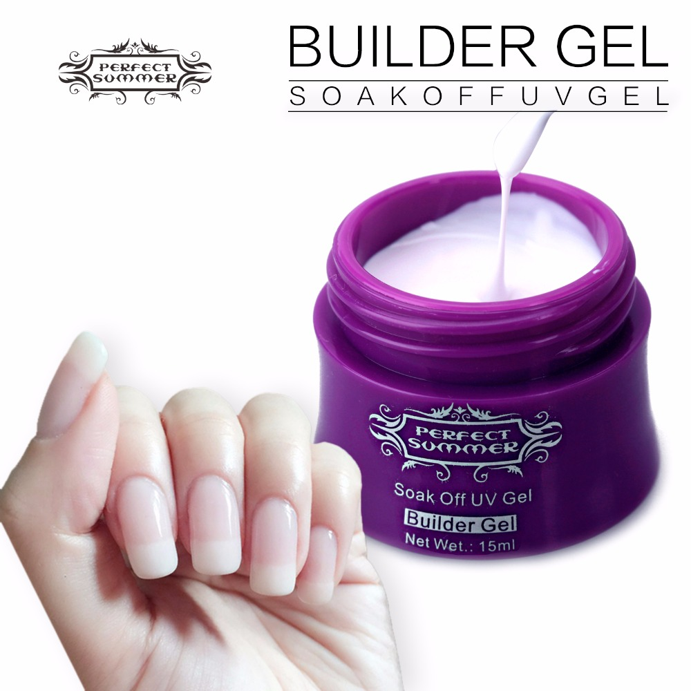 Perfect Summer 15ml UV Extension Builder Nail Gel Color Poly Gel ...