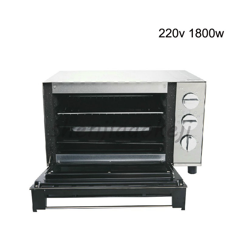 Stainless steel 23L Electric oven Baking Cakes, Tortillas, Baked Chicken Wings,Household oven 220V 1800w cukyi household electric multi function cooker 220v stainless steel colorful stew cook steam machine 5 in 1