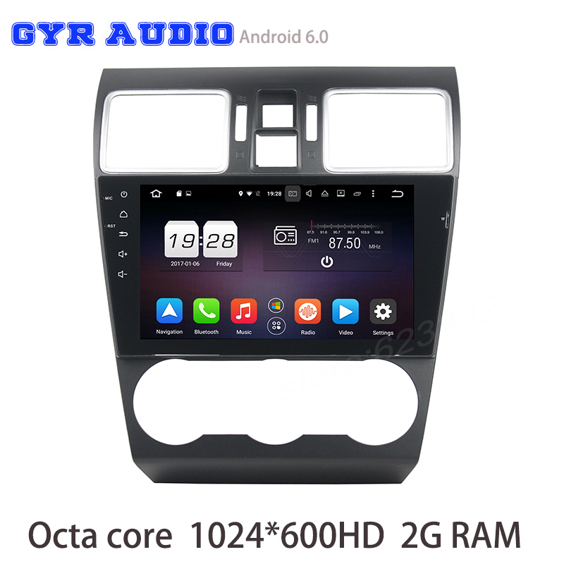 Octa core Android 6 0 Car font b gps b font radio For WRX 2014 2016