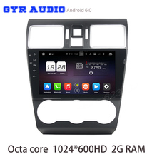 Octa core Android 6.0 Car gps radio For WRX 2014-2016 with 1024*600 Screen 2G DDR3 32G ROM GPS Radio navi Stereo WIFI 3G DVR USB