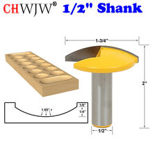 """1pc 1/2"""" Shank Small Bowl Router Bit - 1.65"""" Radius - 1-3/4"""" Wide For Woodworking Cutting Tool"""