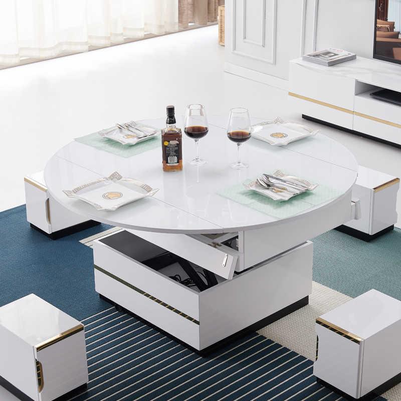table basse electrique multifonctionnelle pliable pour salon rectangulaire minimaliste table de salle a manger