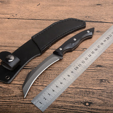 цена на Karambit Fxied blade Knife 440c Blade G10 handle Pocket Knife Outdoor Camping  EDC Tools Survival Tactical knives with leather