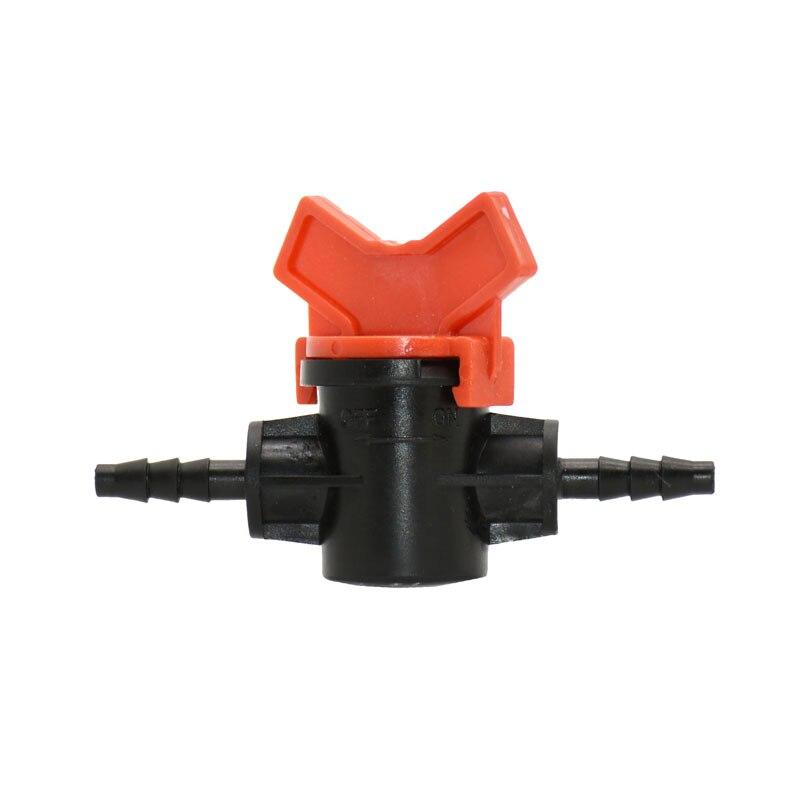 1/4 Inch Garden Tap 4/7 Hose Irrigation Water Valve 2 Way Waterstop Connectors Mini Valve 1/4