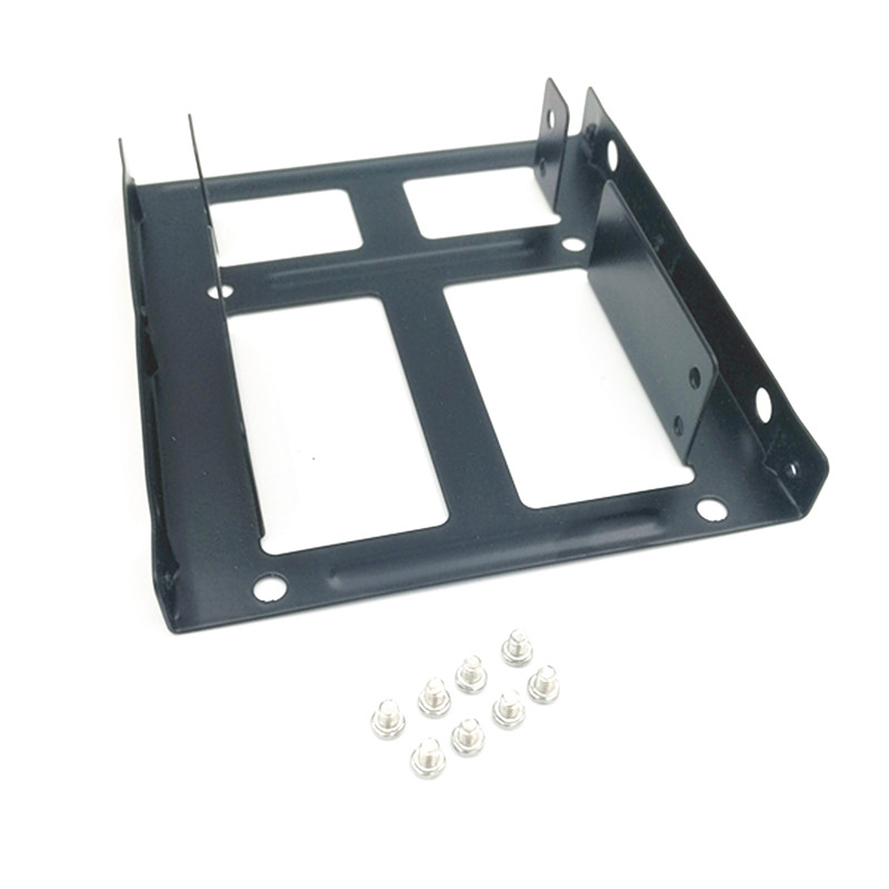 Image 4 - Dual SSD HDD Mounting Bracket 3.5 to 2.5  Internal Hard Disk Drive Kit Cables 2.5 hard disk drive to 3.5 bay tray caddy-in SSD Adapters from Computer & Office