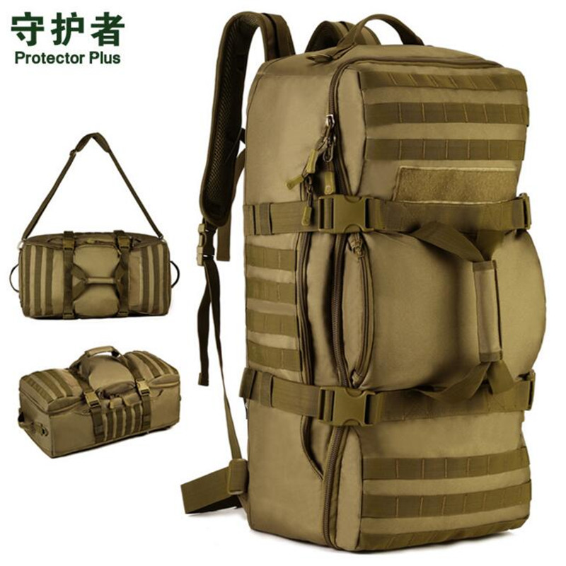 Здесь продается  60L Multi-function Nylon Waterproof Rucksack Outdoor Sport Military Tactics Camping Backpack Brand New Molle Nag S073  Спорт и развлечения