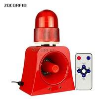 Warning Signal Beacon Light Horn Siren 120db Outdoor Audible and Visual Alarm Annunciator for Safety Prompt 12V 24V 220V