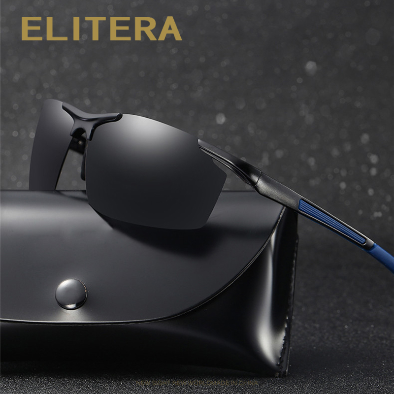 8b6cbdf7af Detail Feedback Questions about ELITERA Brand Men s Polarized Sunglasses  Rimless Rectangle Driving Mirror Sport Mens Sun Glasses For Men E8530 on ...