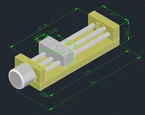Image 2 - DIY קטן מחוון עם מגבלת מתג אופטי כונן מנוע צעד של מיקרו מחוון בורג מנוע
