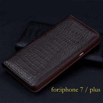 bilder für Für iPhone 7 iPhone7 Fall Luxus Flip Echtes Leder-kasten für Apple iPhone 7 plus Marke Phone Cases Taschen zubehör