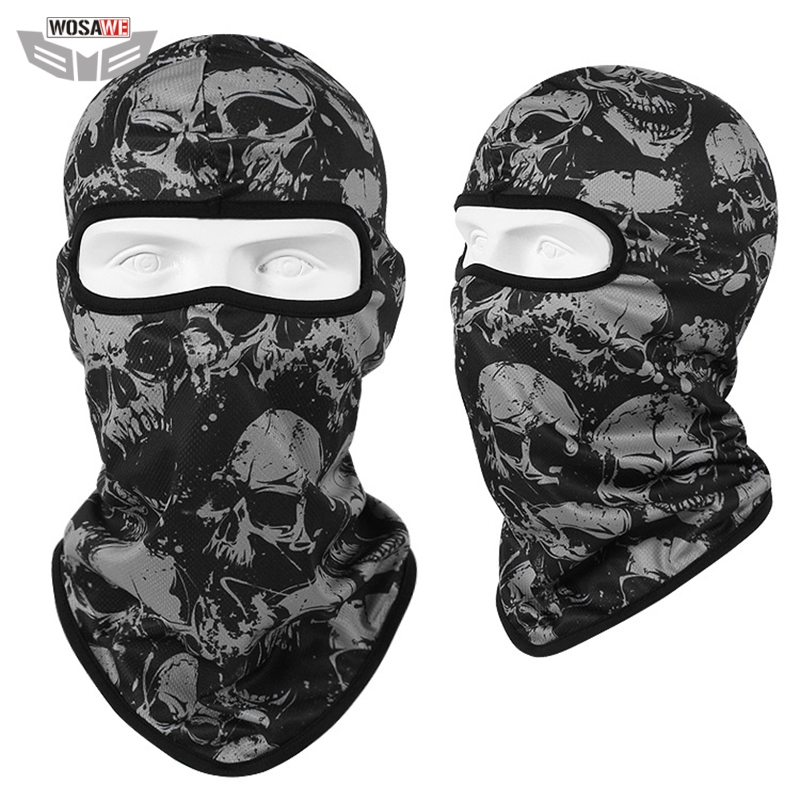 WOSAWE Motocross Bandana Motorcycle Full Face Mask Sun Protection MOTO Motorbike Racing Face Shield mtb Bicycle Balaclava Scarf