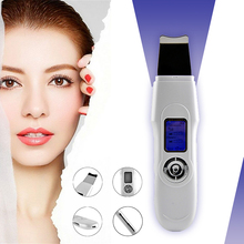 USB Deeply ultrasonic face skin cleaner device blackhead removal Device Peeling shovel machine face exfoliator Pore Skin Clean недорого