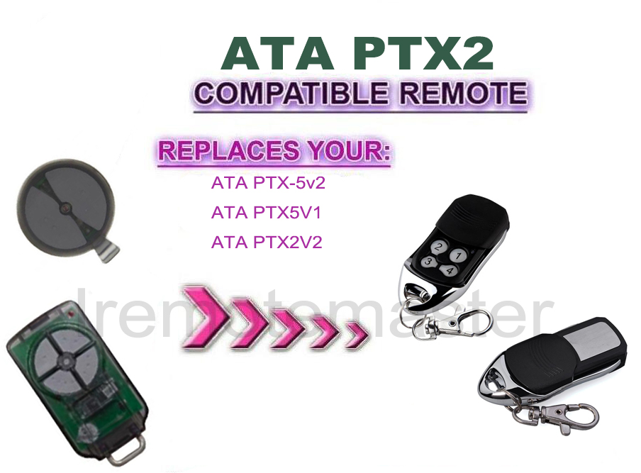 Garage remote for ATA PTX2V2 PTX5V2 tricode remote replacement ...
