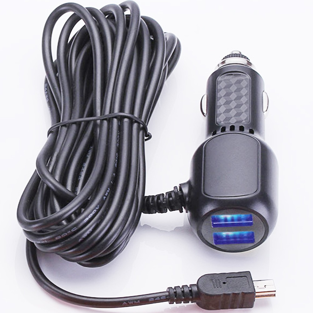 Long Cable Vehicle Power Cable Charger for Garmin Nuvi GPS 50LM 51LM 55LM