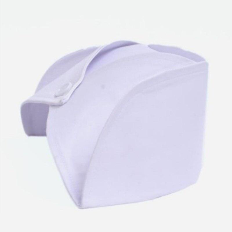 5 Pcs Women Round Cap White Blue Pink Dovetail Hat Hospital Surgical Doctor Practice Head Nurse Cap Profession Medical Supplies