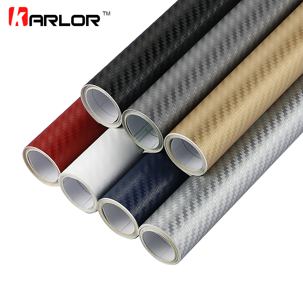 Car Stickers | 30x127cm 3D Carbon Fiber Vinyl Film Car Stickers Waterproof Car Styling Wrap Auto Vehicle Detailing Car Accessories Motorcycle