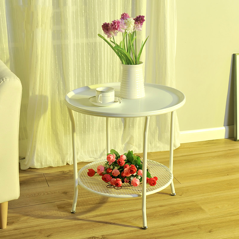 Modern Minimalist Corner Iron Tea Table Room Phone Several Sofa Side Table  Tempered Glass Small Round Table In Coffee Tables From Furniture On ...