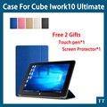Для Cube iwork10 ultimate случае Красочные Ультра-тонкий Модный Кожаный Чехол для Cube iwork 10 ultimate Случае + бесплатная 2 подарки