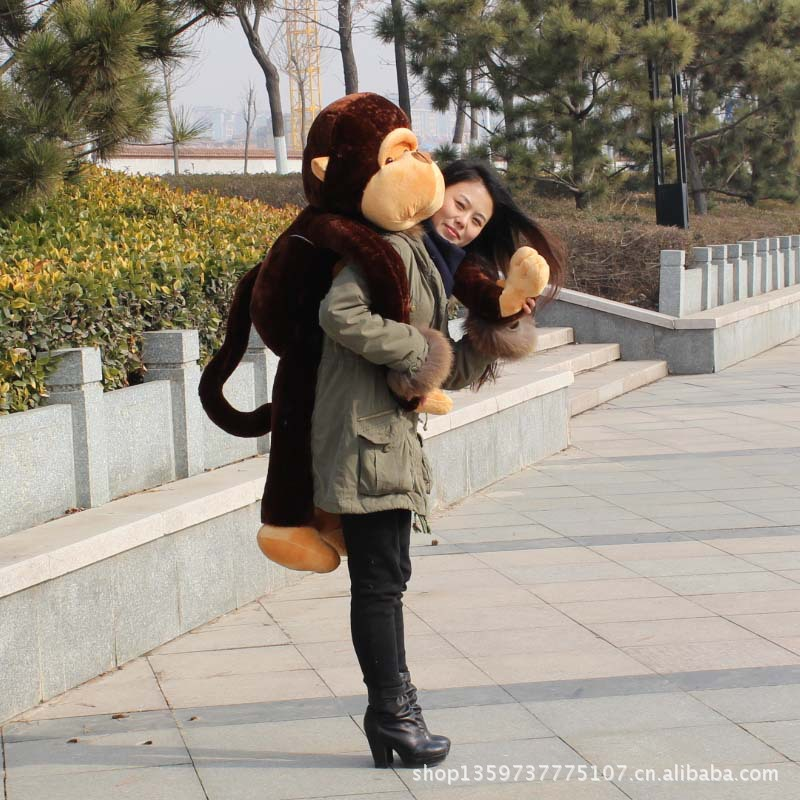 fillings toy large 110cm long arms brown monkey plush toy soft pillow birthday gift b4965 цены онлайн