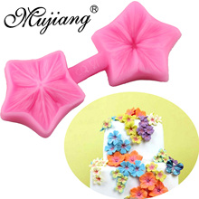 Mujiang DIY Cherry Blossoms Cake Decorating Tools Sugar Craft Cake Border Silicone Fondant Molds Candy Cupcake Chocolate Mold