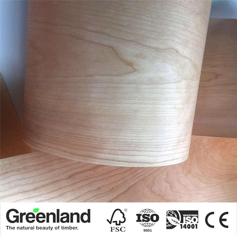 Cherry(C.C) Wood Veneers DIY Furniture Natural Material Bedroom Chair Table Skin Size 250x20 Cm Table Veneer Flooring