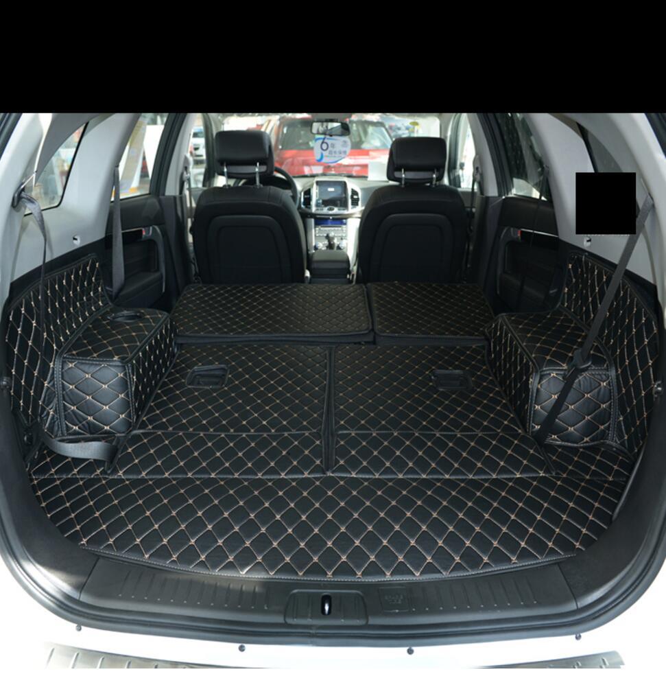 Fibre cuir tapis de coffre de voiture pour chevrolet captiva Daewoo Winstorm holden 2006-2017 2016 2015 2014 2013 2012 accessoires de voiture