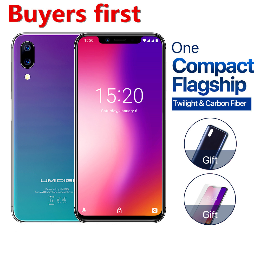 """2019 NEW Global Version UMIDIGI ONE 19:9 5.9""""FHD Android 8.1 mobile phone 4GB+32GB Helio P23 Octa Core 12MP 4G LTE smartphone"""