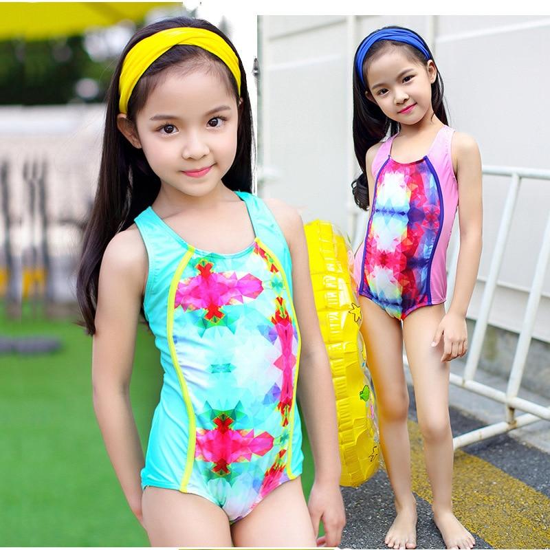 1264707d5680b 2019 New Summer Baby Girls Bikini Set Cute Kids Professional Swimwear  Swimsuit Girls Swimming Bathing Suit Beachwear-in Children's One-Piece Suits  from ...