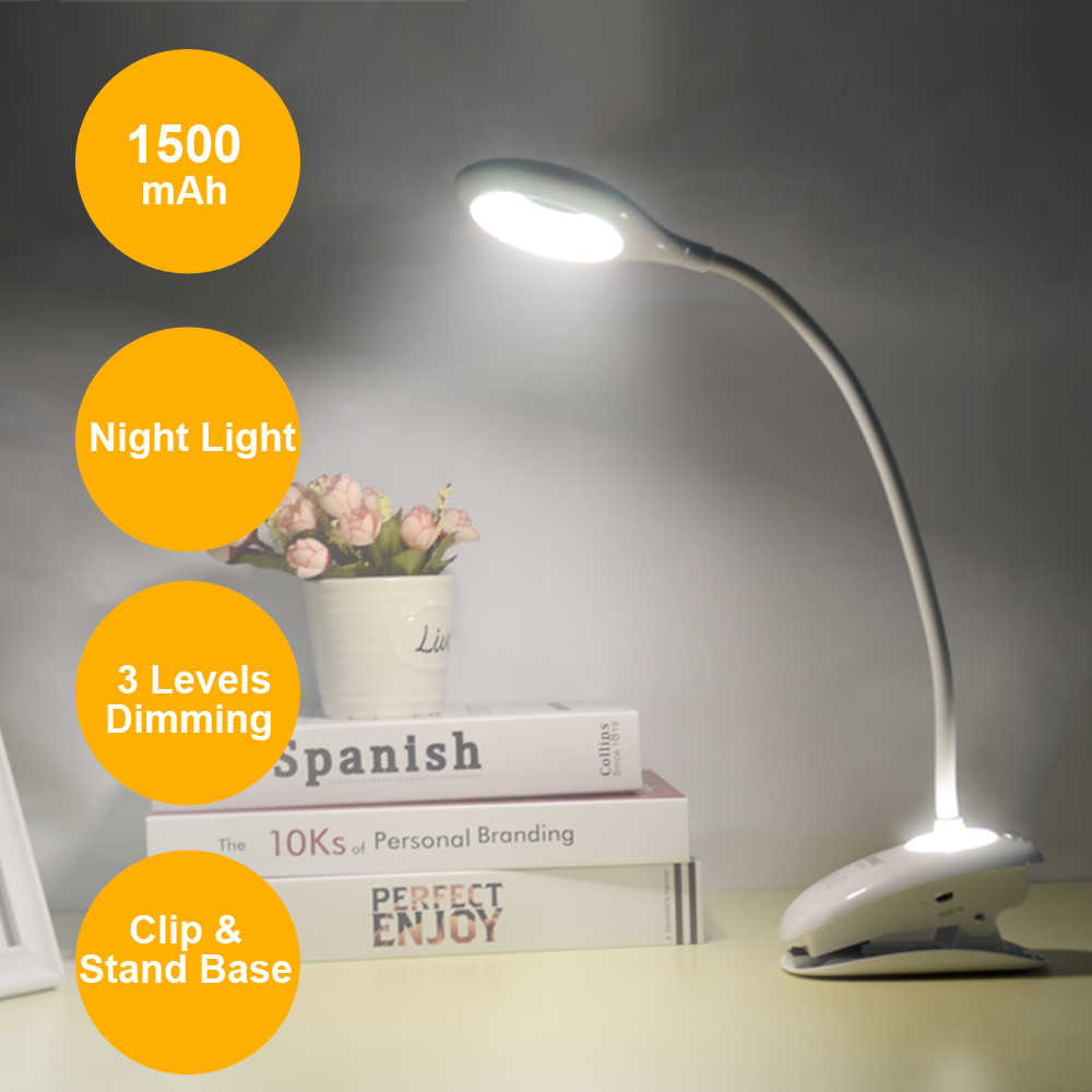 Cổ Ngỗng Đèn LED Để Bàn Cảm Ứng Hiện Đại Công Tắc Đèn Mờ Sạc 18650 Pin Đầu Giường Phòng Đèn Học Đèn Ngủ Để Bàn