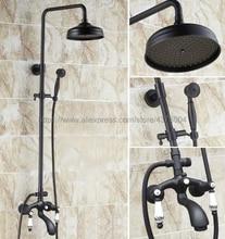 Bathroom Black Oil Rubbed Brass Shower Faucet 8