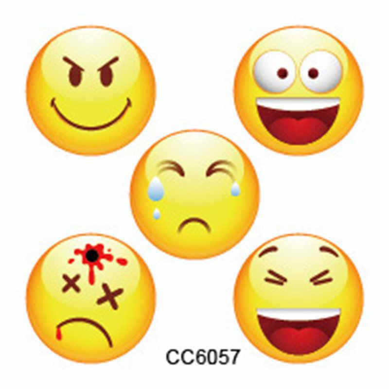 1 chiếc Màu Emojis Miếng Dán Móng Tay Móng Tay Nghệ Thuật Bộ Gậy Đen Ren Vàng Lấp Lánh Hoa Decal Nước Thanh Trượt Bọc Trang Trí dụng cụ làm móng AS9