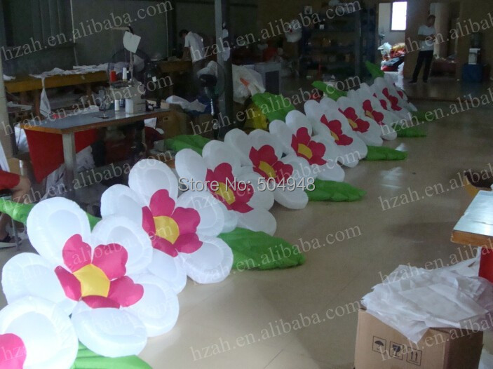 2017 Cheap Inflatable Flower Decoration 2017 new inflatable flower long wedding decoration flower