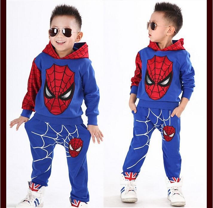2019 Boys Clothes Tracksuit Spiderman 2st / set Passar Barnkläder - Barnkläder - Foto 5