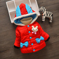 2016 winter new children girls cartoon rabbit coat quilted jacket thick cotton jacket children's clothing