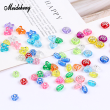 Meideheng Acrylic Charms Beads Transparent Drill Grooves Surface Beads For Needlework Bracelet Pendant Necklace Design Material cute beads feather pendant design necklace for women