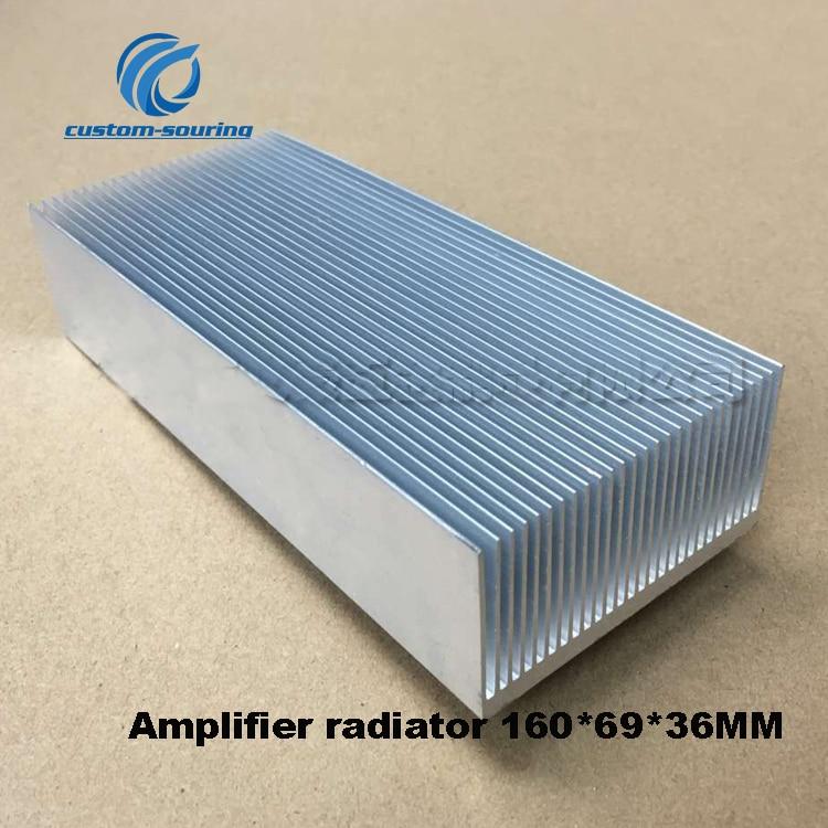 1PC Amplifier Radiator 160*69*36MM Audio Amplifier Heatsink Silver LED Heat Sink