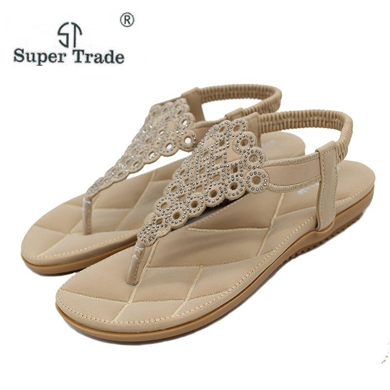 bb187f3289c4f New Casual Sandals Diamond Bohemia Shoes Fashion Summer Shoes Women Casual Shoes  Women Sandals Size 35-41 Diamond Sandals