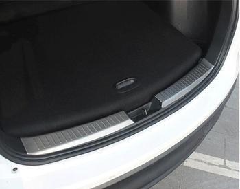 2 sztuk tylny zderzak wykończenia dla Mazda CX-5 CX5 2nd Gen 2017 2018 tylne Trunk podwalina Scuff talerza pokrywa wykończenia