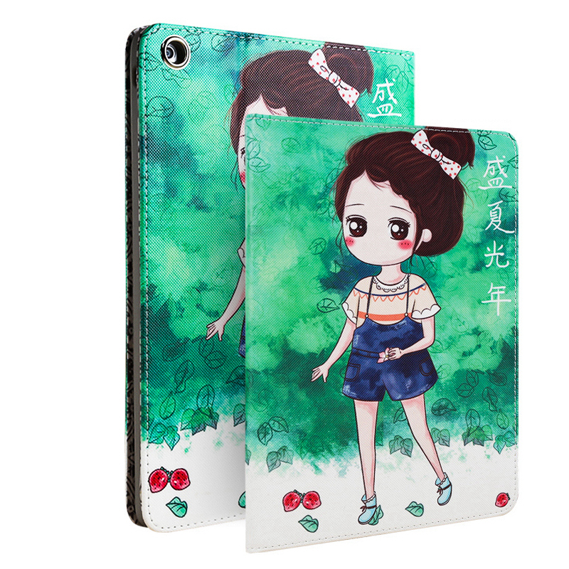 Case Cover for Funda iPad Air 1(iPad 5) 9.7 Inch Cartoon Cute PU Leather Ultra Slim Smart Case for iPad 5/Air 1 Para belkin shield swing case cover for ipad air