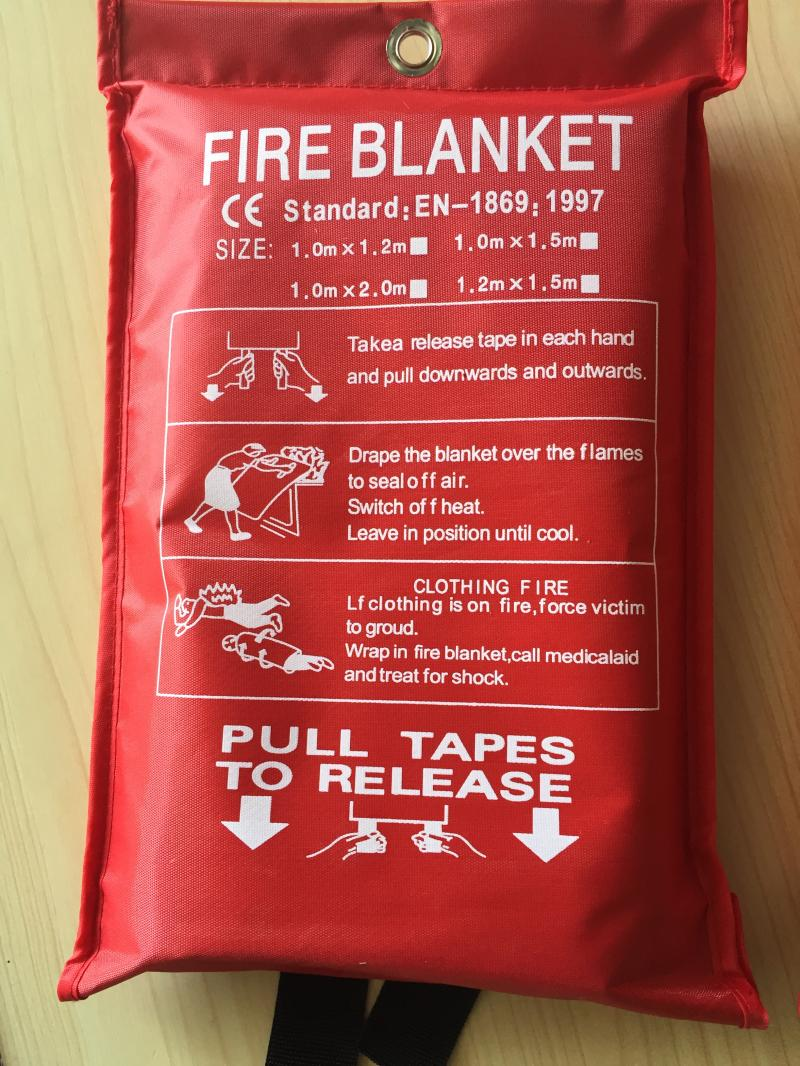 Fire Blanket for Fire fighting and Home Rescue 1.8*1.8meters bizzy bear fire rescue