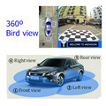 WEIVISION Universal 360 degree bird View Car DVR recording surround view system with 4HD rear view front side view camera