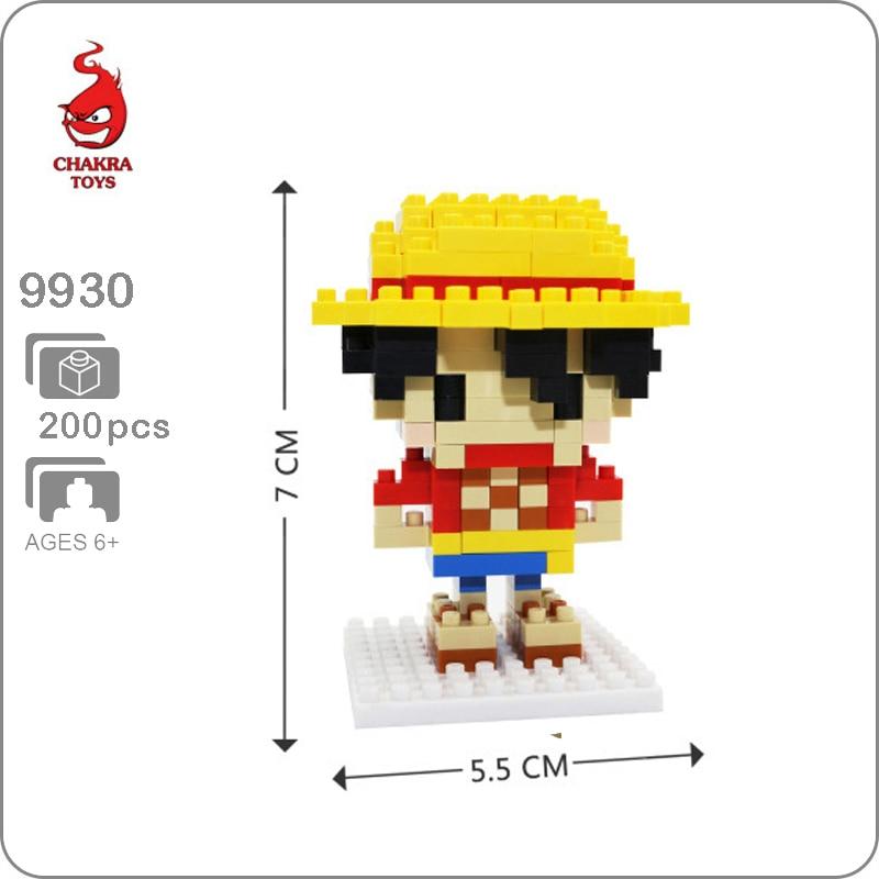 CKL One Piece Red-Haired Shanks Pirate DIY Nano Blocks Diamond Mini Building Toy