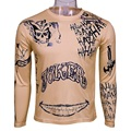 Suicide Squad T-Shirt Joker Tattoos Costume Sublimation Long Sleeve Deadshot Raglan T-Shirt Cosplay Joker T-shirt Halloween